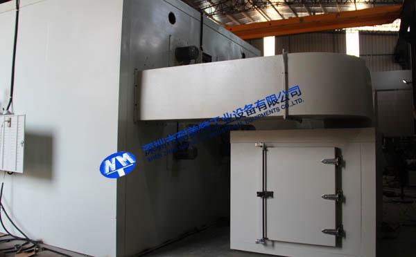 金属预热收缩燃气推车烘箱