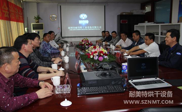 汉寿县孙金平县长带队赴深圳市耐美特工业设备有限公司实地考察