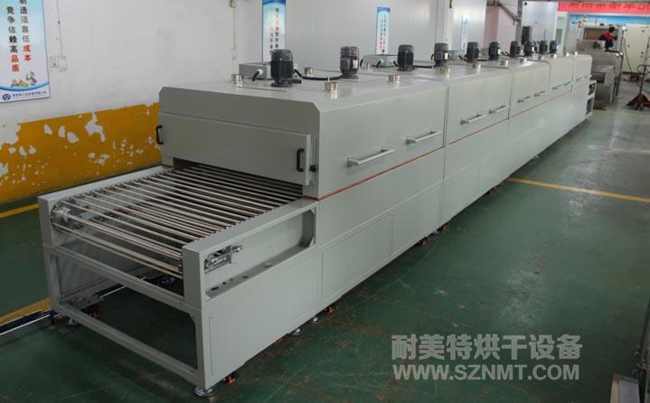 聚乙烯布材(PE)软化成型红外隧道式烘干炉