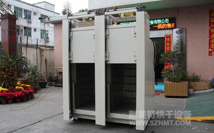 电容行业双内胆自动门工业烘箱