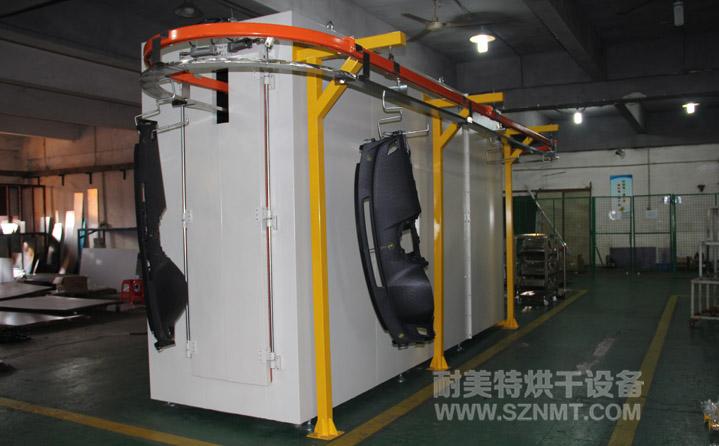 汽车内饰板悬挂隧道式烘干炉